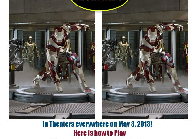 """Iron Man 3"" Find The Difference Game 1"