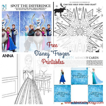 image regarding Free Olaf Printable named No cost Frozen Printable Video game - Mrs. Kathy King