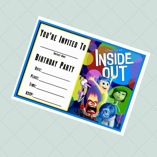 "Planning an Inside Out Party? Here is a Free ""Inside Out"" birthday invitation templates to use. Click on the image above to download the free ""Inside Out"" birthday invitation."
