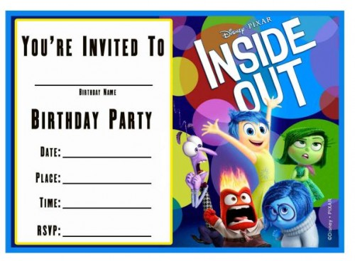 Free Inside Out Birthday Invitation Templates  #InsideOutEvent