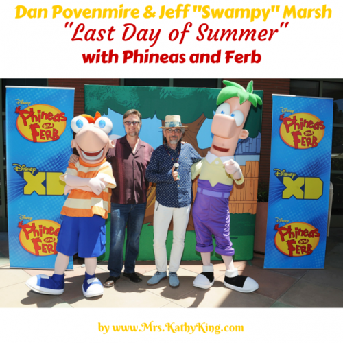 "Dan Povenmire & Jeff ""Swampy"" Marsh Last Day of Summer with Phineas & Ferb #PhineasAndFerbEvent"