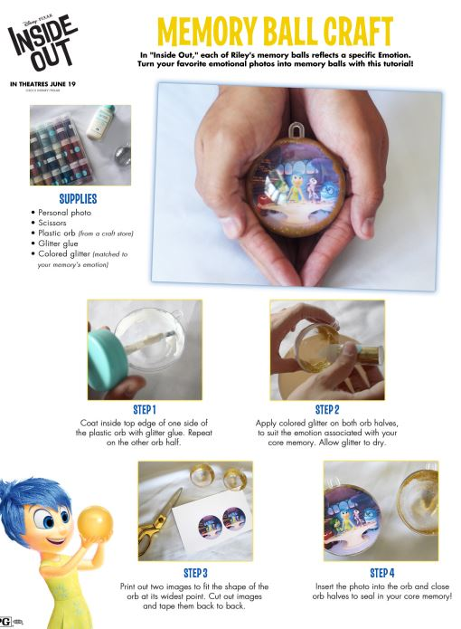 How to make a Inside Out Memory Ball #InsideOutEvent - Mrs