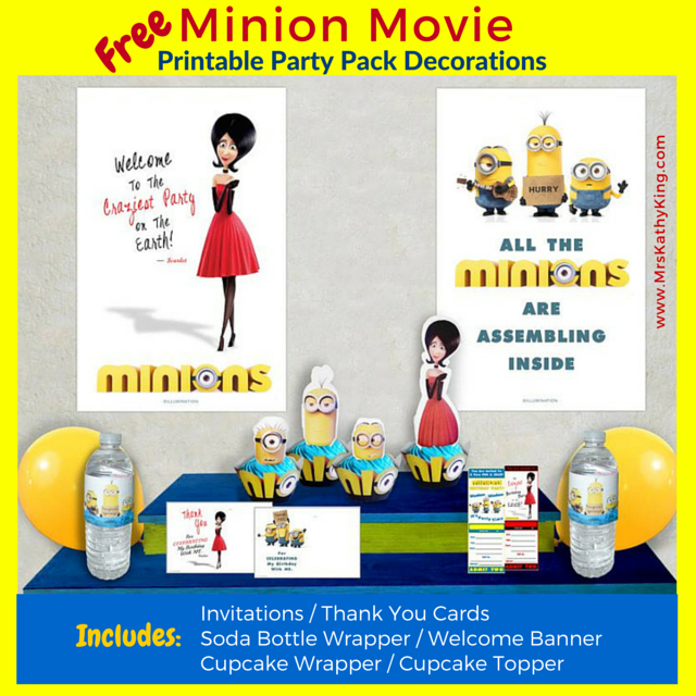 Are You Planning A Minion Movie Theme Party