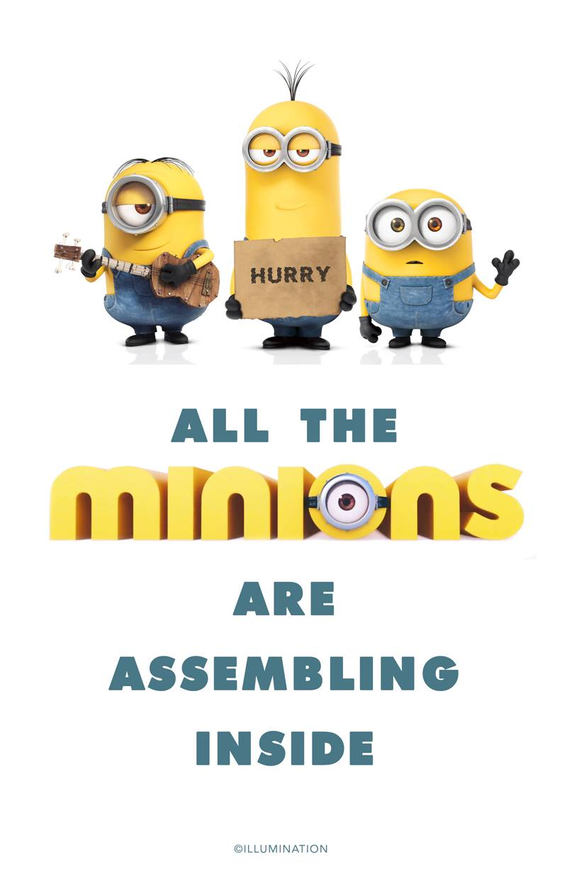 Minion Movie Welcome Sign one