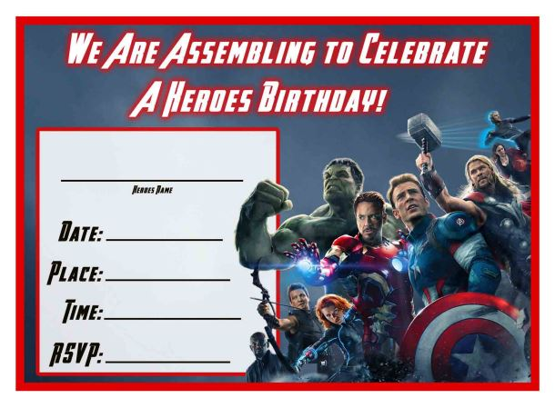 Free Avengers: Age of Ultron Printable Birthday Invitation Templates  #Avengers #AgeOfUltron