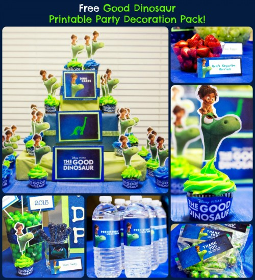 Free Good Dinosaur Printable Party Decoration Pack