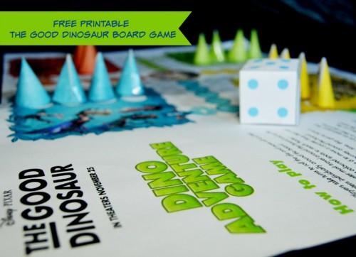 Free Printable The Good Dinosaur Board Game! #GoodDinoEvent