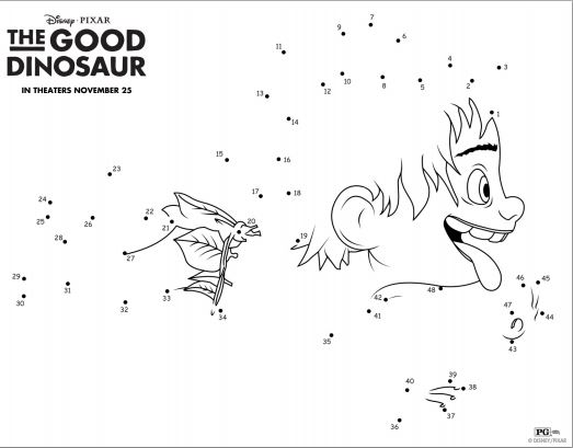 The Good Dinosaur Printable Activities