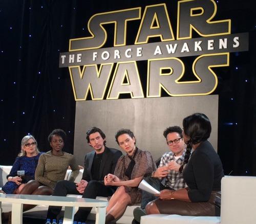 star wars force awakens interviews