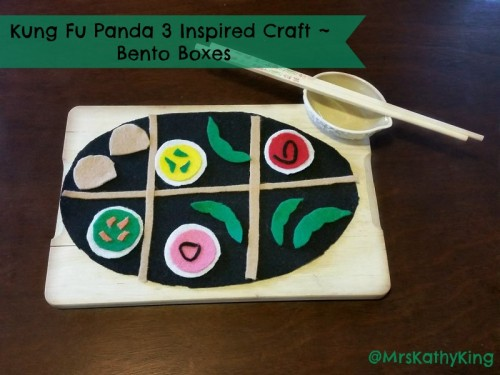 Kung Fu Panda 3 Bento Boxes Craft #FandangoFamily