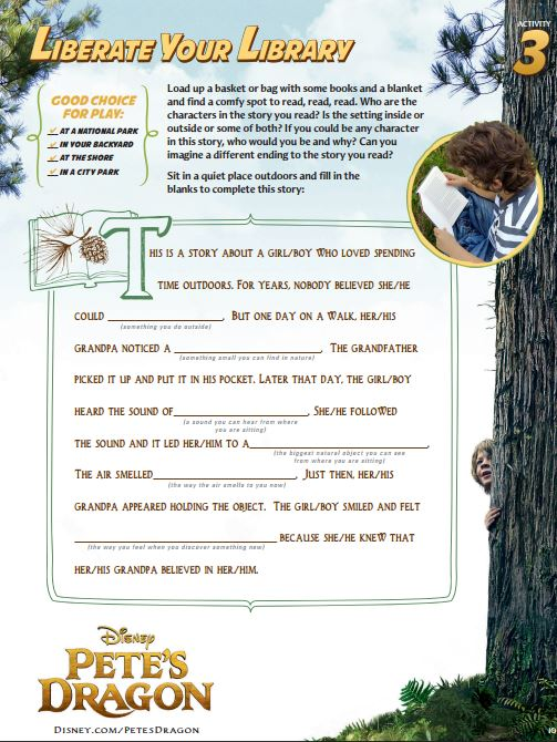 petes dragon activity sheets Liberate Your Library