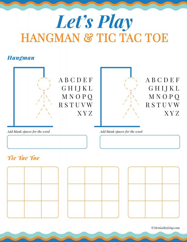 graphic regarding Printable Hangman titled Absolutely free Printable Push Game titles and Video game Sheets Pack