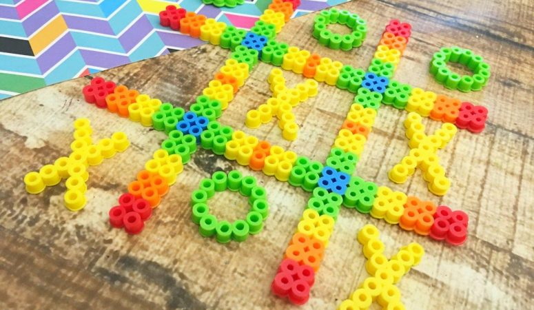 Activity For Kids – Tic Tac Toe Perler Beads Game Board