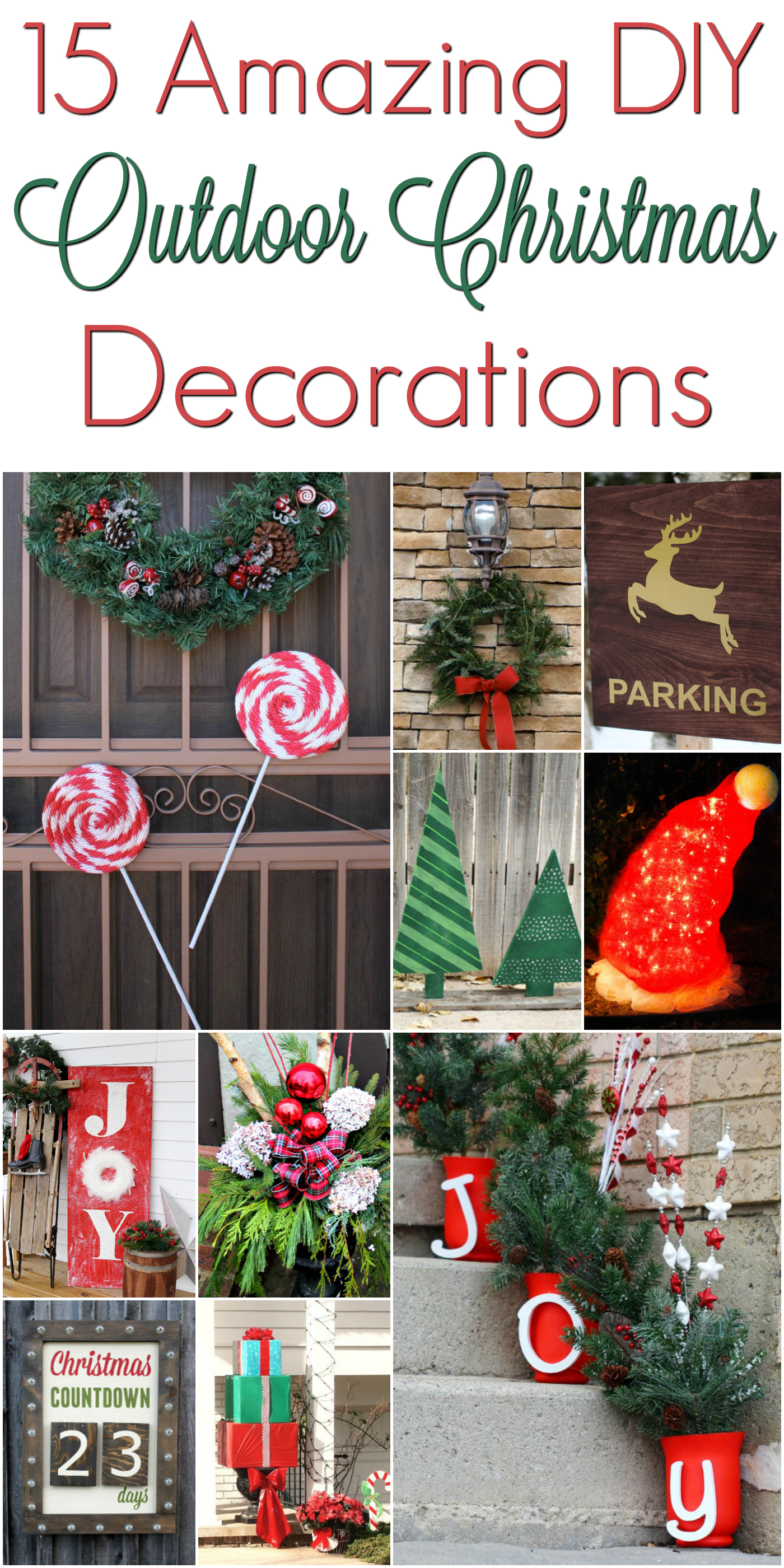 diy christmas outdoor decorations christmasdecorations mrs kathy king. Black Bedroom Furniture Sets. Home Design Ideas