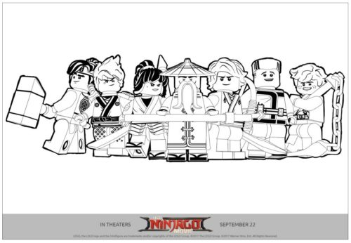 Ninjago Team Printable Coloring Page