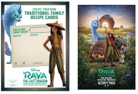 RAYA AND THE LAST DRAGON Digital Code Giveaway &  Printable Activity Pages Sheets